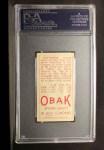 1911 T212 Obak #80 RED Arthur Krueger  Back Thumbnail
