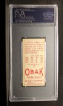 1911 T212 Obak #43 RED Davis  Back Thumbnail