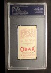 1911 T212 Obak #8 RED Shad Barry  Back Thumbnail