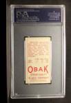 1911 T212 Obak #132 PTL Tom Seaton  Back Thumbnail