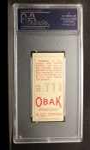 1911 T212 Obak #74 RED Jensen  Back Thumbnail