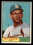 1961 Topps #32  Ray Sadecki  Front Thumbnail