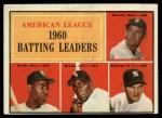 1961 Topps #42   -  Minnie Minoso / Pete Runnels / Bill Skowron / Al Smith AL Batting Leaders Front Thumbnail