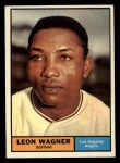 1961 Topps #547  Leon Wagner  Front Thumbnail