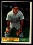 1961 Topps #493  Don Zimmer  Front Thumbnail