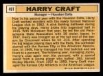 1963 Topps #491  Harry Craft  Back Thumbnail
