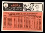 1966 Topps #103 *xTR* Dick Groat   Back Thumbnail