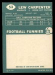 1960 Topps #53  Lew Carpenter  Back Thumbnail