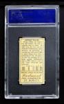 1911 T205 ONE Hooks Wiltse  Back Thumbnail