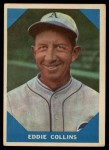 1960 Fleer #20  Eddie Collins  Front Thumbnail