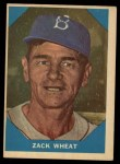 1960 Fleer #12  Zach Wheat  Front Thumbnail
