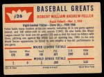 1960 Fleer #26  Bob Feller  Back Thumbnail