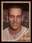1962 Topps #74  Bob Lillis  Front Thumbnail