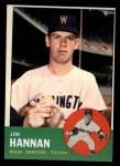 1963 Topps #121 ^COR^ Jim Hannan  Front Thumbnail