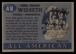 1955 Topps #48  Ed Widseth  Back Thumbnail