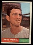 1961 Topps #235  Camilo Pascual  Front Thumbnail