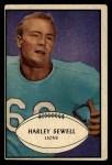 1953 Bowman #58  Harley Sewell  Front Thumbnail