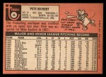 1969 Topps #86  Pete Richert  Back Thumbnail