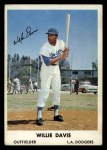 1961 Bell Brand Dodgers #3  Willie Davis     Front Thumbnail