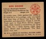 1950 Bowman #64  Bob Goode  Back Thumbnail