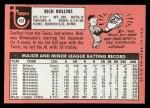 1969 Topps #451 *WN* Rich Rollins  Back Thumbnail