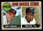 1968 Topps #56   -  Dave May / Dave Leonhard Orioles Rookies Front Thumbnail