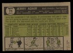 1961 Topps #71  Jerry Adair  Back Thumbnail