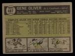 1961 Topps #487  Gene Oliver  Back Thumbnail