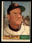 1961 Topps #398  Hank Bauer  Front Thumbnail