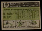 1961 Topps #509  Camilo Carreon  Back Thumbnail