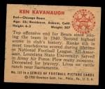 1950 Bowman #137  Ken Kavanaugh  Back Thumbnail