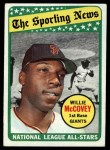 1969 Topps #416   -  Willie McCovey All-Star Front Thumbnail