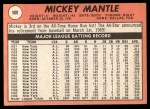 1969 Topps #500 ^YN^ Mickey Mantle  Back Thumbnail