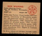 1950 Bowman #80  Dick Wildung  Back Thumbnail