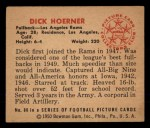 1950 Bowman #86  Dick Hoerner  Back Thumbnail