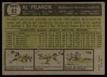 1961 Topps #62 xSPT Al Pilarcik  Back Thumbnail