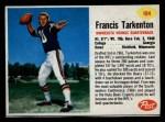 1962 Post #184  Fran Tarkenton  Front Thumbnail