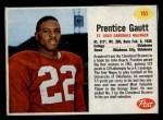 1962 Post #151  Prentice Gautt  Front Thumbnail