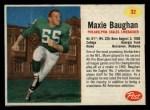 1962 Post #32  Maxie Baughan  Front Thumbnail