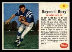 1962 Post #76  Raymond Berry  Front Thumbnail