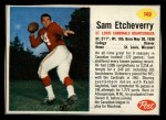 1962 Post #149  Sam Etcheverry  Front Thumbnail