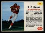 1962 Post #101  R.C. Owens  Front Thumbnail