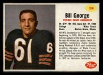 1962 Post #114  Bill George  Front Thumbnail