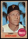 1968 Topps #584  Larry Shepard  Front Thumbnail