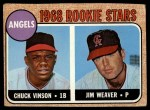 1968 Topps #328   -  Jim Weaver / Chuck Vinson Angels Rookies Front Thumbnail