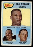 1965 Topps #537   -  Mercelino Lopez / Rudy May / Phil Roof Angels Rookies Front Thumbnail