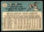1965 Topps #440  Tom Tresh  Back Thumbnail