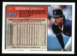 1994 Topps #292  Danny Darwin  Back Thumbnail