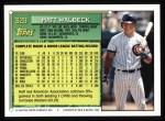 1994 Topps #329  Matt Walbeck  Back Thumbnail