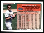 1994 Topps #310  Robin Yount  Back Thumbnail